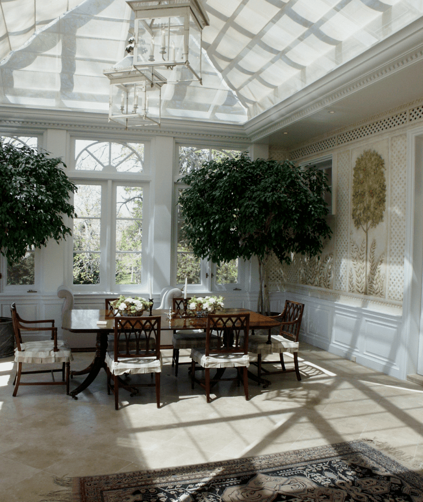 dining area with beautiful view